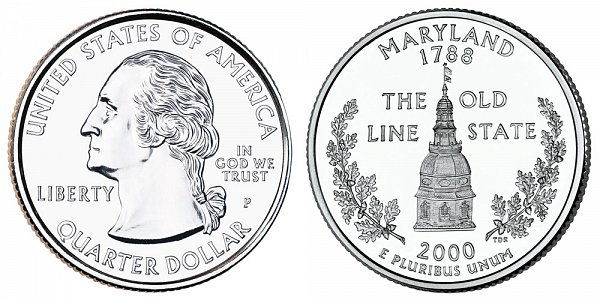 2000 P Maryland State Quarter