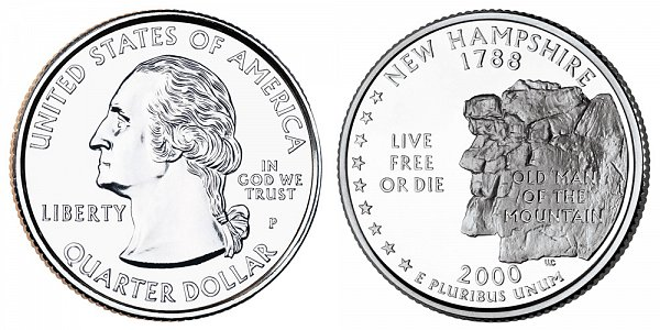 2000 P New Hampshire State Quarter