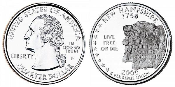 2000 P New Hampshire State Quarter