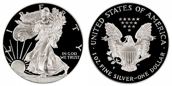 2000 P Proof American Silver Eagle