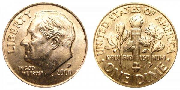 2000 P Roosevelt Dime