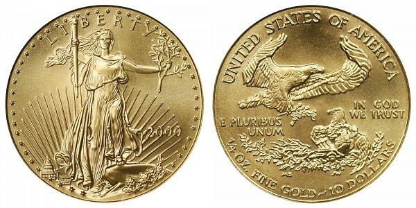 2000 Quarter Ounce American Gold Eagle - 1/4 oz Gold $10