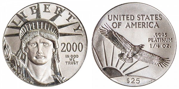 2000 Quarter Ounce American Platinum Eagle - 1/4 oz Platinum $25