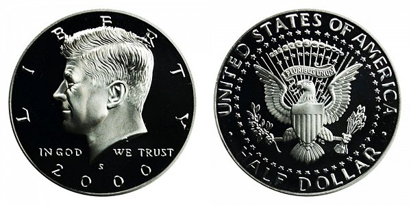 2000 S Silver Kennedy Half Dollar Proof
