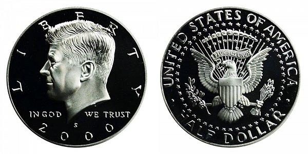 2000 S Kennedy Half Dollar Proof