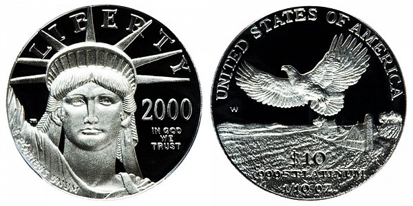 2000 W Proof Tenth Ounce American Platinum Eagle - 1/10 oz Platinum $10