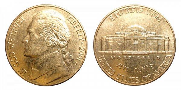 2001 D Jefferson Nickel