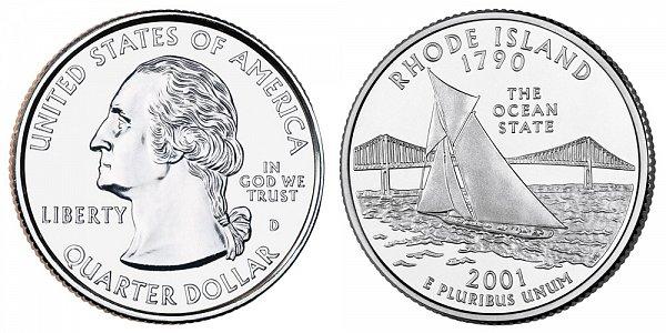 2001 D Rhode Island State Quarter