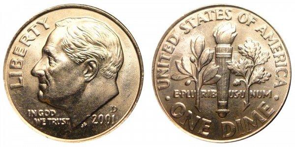 2001 D Roosevelt Dime