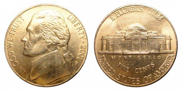 2001 P Jefferson Nickel