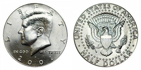 2001 P Kennedy Half Dollar