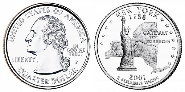 2001 P New York State Quarter