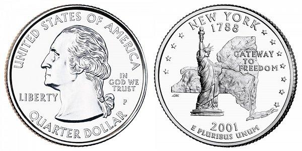 2001 P New York State Quarter