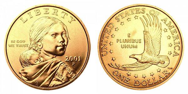 2001 P Sacagawea Dollar