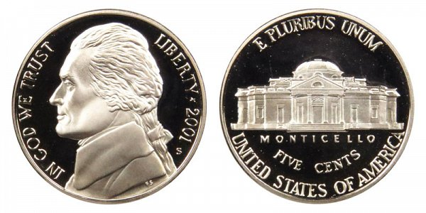 2001 S Jefferson Nickel Proof