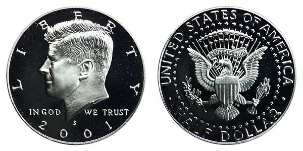 2001 S Silver Kennedy Half Dollar Proof