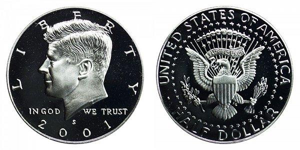 2001 S Silver Kennedy Half Dollar Proof