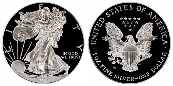 2001 W Proof American Silver Eagle