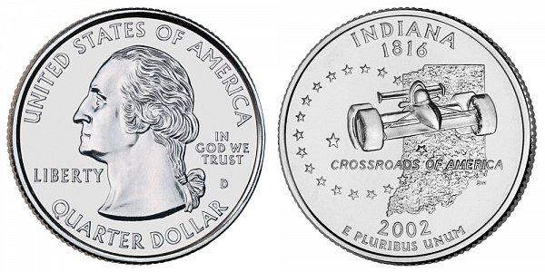 2002 D Indiana State Quarter