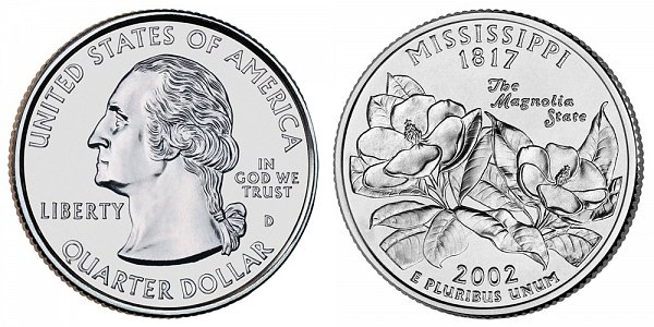 2002 D Mississippi State Quarter