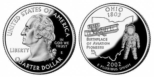 2002 S Proof Ohio State Quarter