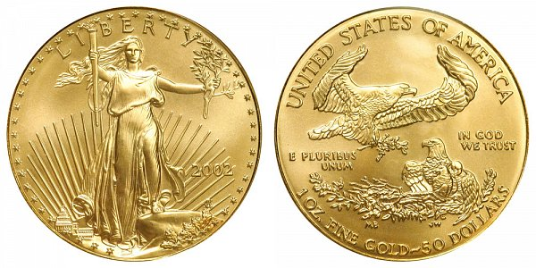 2002 One Ounce American Gold Eagle - 1 oz Gold $50