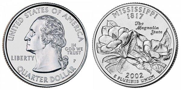 2002 P Mississippi State Quarter