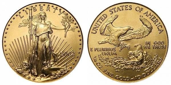 2002 Quarter Ounce American Gold Eagle - 1/4 oz Gold $10