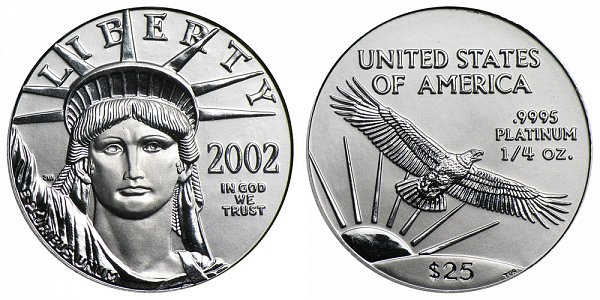 2002 Quarter Ounce American Platinum Eagle - 1/4 oz Platinum $25