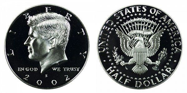 2002 S Silver Kennedy Half Dollar Proof