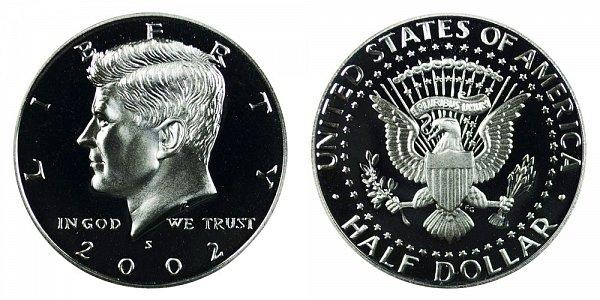 2002 S Silver Kennedy Half Dollar Proof