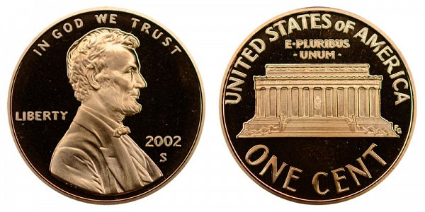 2002 S Lincoln Memorial Cent Penny Proof
