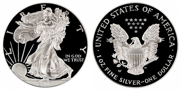 2002 W Proof American Silver Eagle