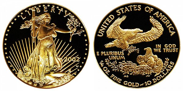 2002 W Proof Quarter Ounce American Gold Eagle - 1/4 oz Gold $10