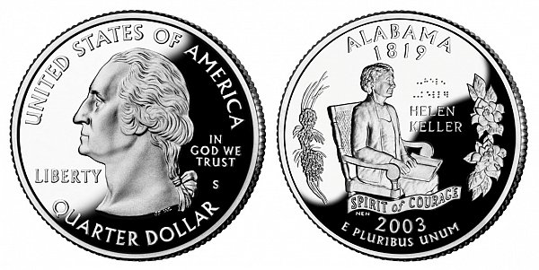 2003 S Proof Alabama State Quarter