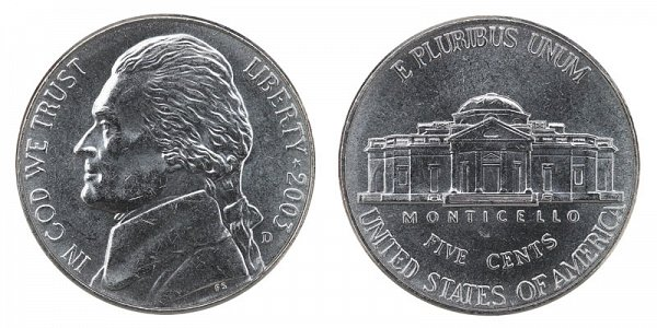 2003 D Jefferson Nickel