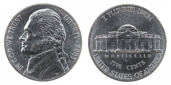 2003 D Jefferson Nickel