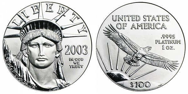 2003 One Ounce American Platinum Eagle - 1 oz Platinum $100