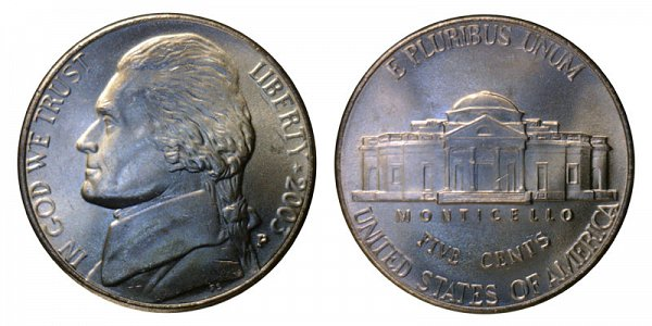 2003 P Jefferson Nickel