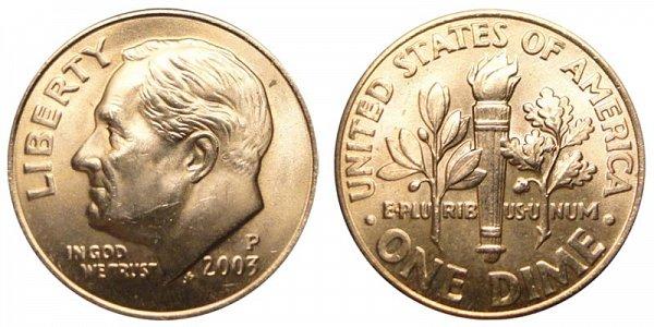 2003 P Roosevelt Dime