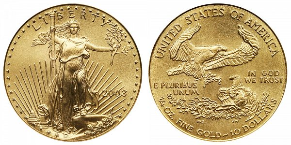 2003 Quarter Ounce American Gold Eagle - 1/4 oz Gold $10