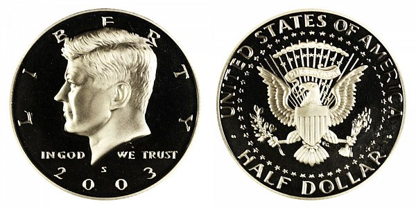 2003 S Kennedy Half Dollar Proof