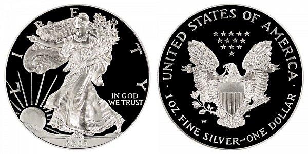 2003 W Proof American Silver Eagle