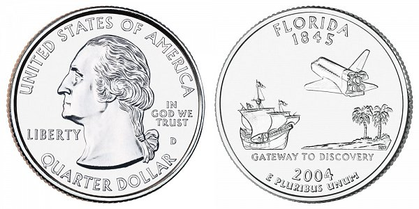 2004 D Florida State Quarter