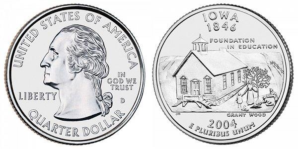 2004 D Iowa State Quarter