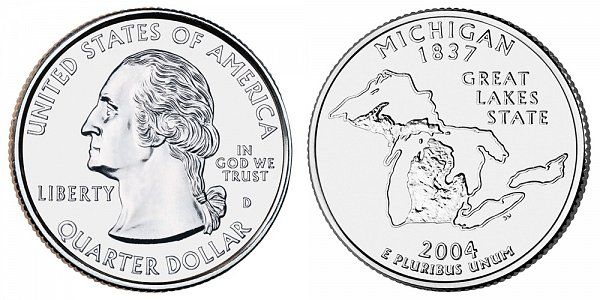2004 D Michigan State Quarter