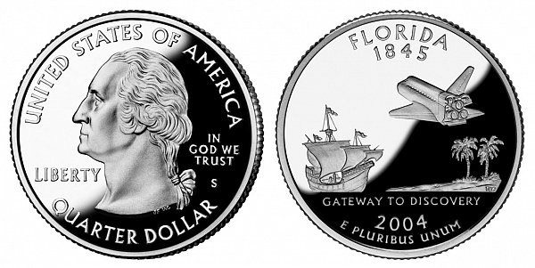 2004 S Proof Florida State Quarter