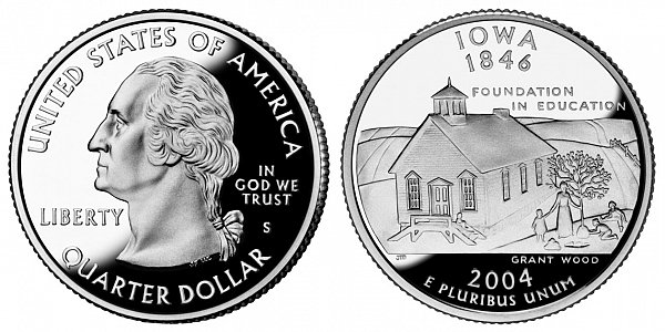 2004 S Proof Iowa State Quarter