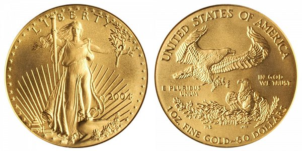 2004 One Ounce American Gold Eagle - 1 oz Gold $50