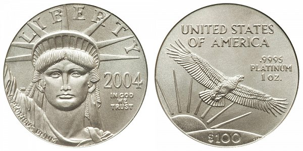 2004 One Ounce American Platinum Eagle - 1 oz Platinum $100